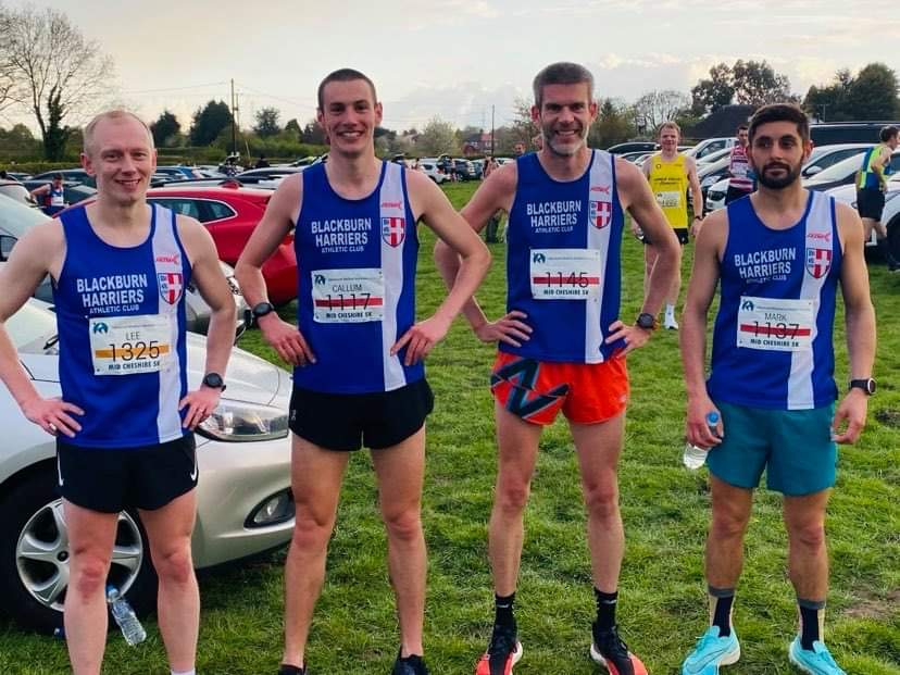 Harriers shine at Mid Cheshire 5k with more PB's