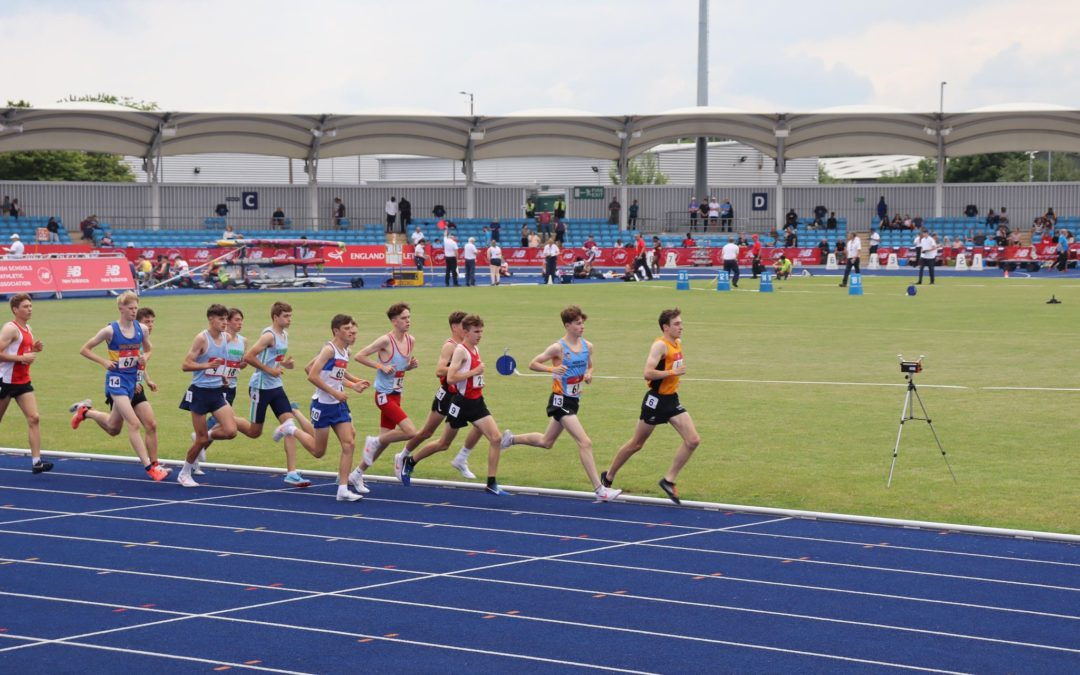 Blackburn Harriers at English Schools T&F Champs – Isabel 2nd at Tour of Bradwell – Oliver in the Murder Mile – Jonathan at Wharfedale Half – Mark Wins Towneley 5k – Theo Wins at Townely Junior Races