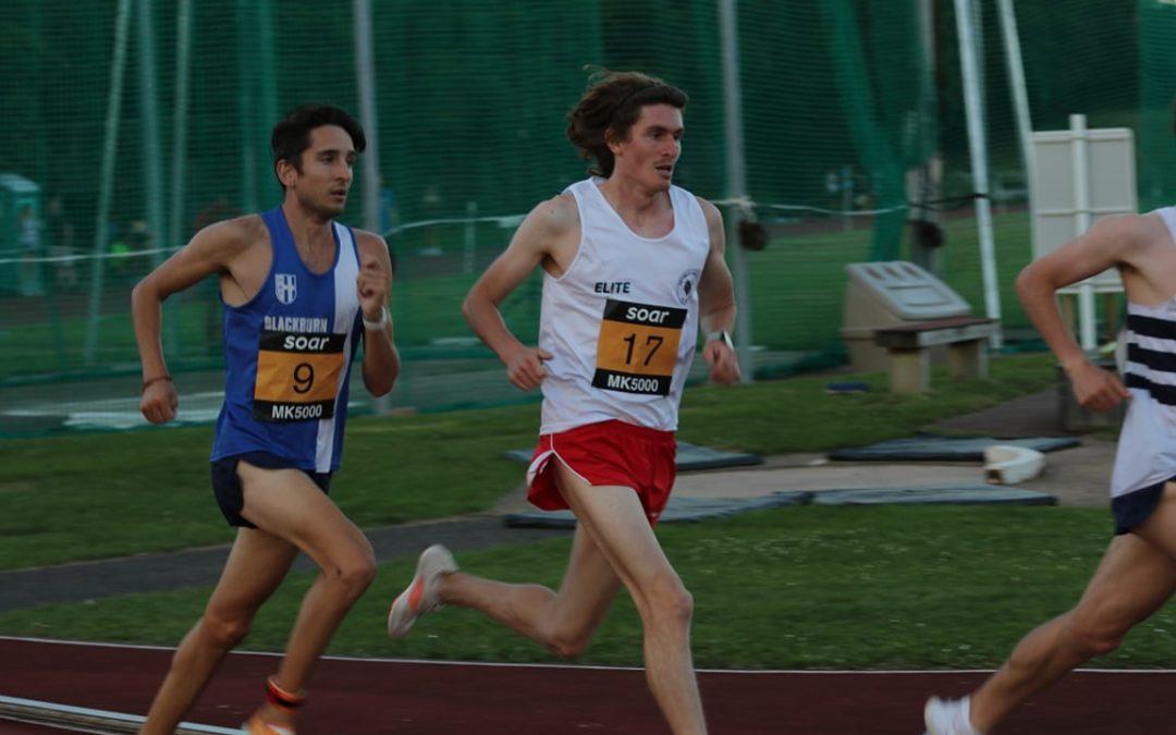 Milton Keynes 5000m with Rob – Theo makes it 3 wins a row