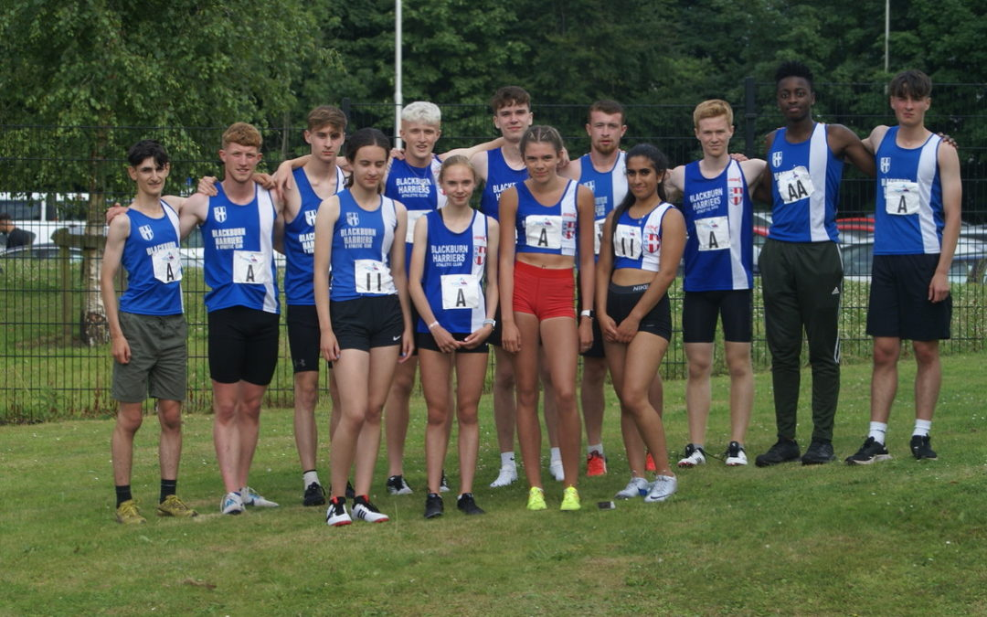 PB's for Dominic & Tim at Loughborough – Harriers undefeated in UKYDL  – Ian at the Vets 5000m Championships – Paul Races the Train